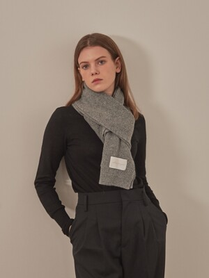 WOOL KNIT MUFFLER [GREY]