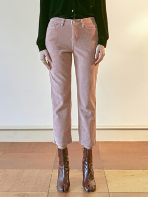 SEMI WIDE CORDUROY PANTS_INDI PINK