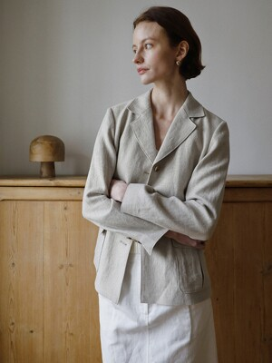 Pocketed Linen Jacket