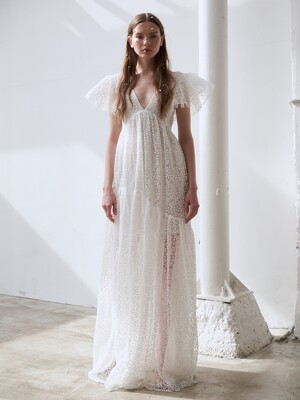 Freya Tulle Lace Maxi Dress