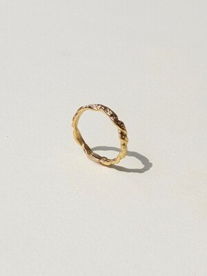 Single texture Ring (gold/silver)