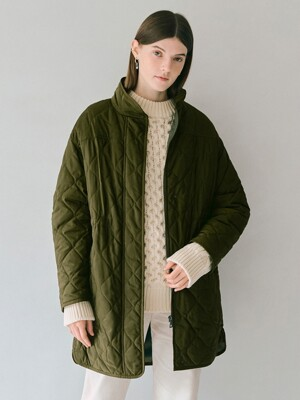Quilting Long Jumper in Khaki
