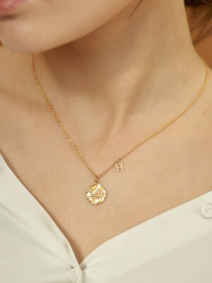 Zodiac initial necklace_NZ1110