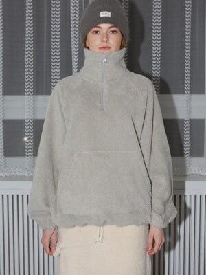 FLEECE ZIP-UP - GRAY
