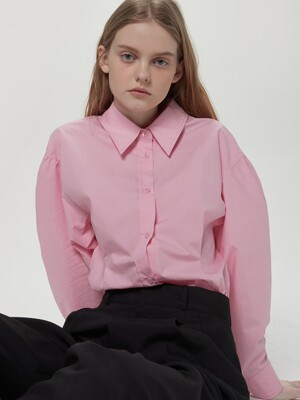 Balloon sleeve shirts - Pink