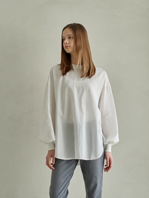 PHILIP LOOSE FIT BLOUSE TSHIRT_WHITE