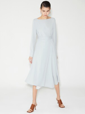 BOAT NECK WRAP DRESS_MINT