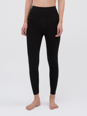 High Rising Leggings-Black