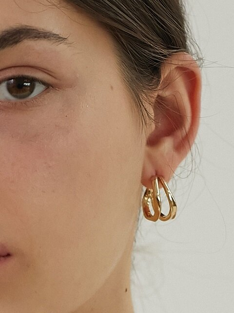 Bent Not Twins Earring