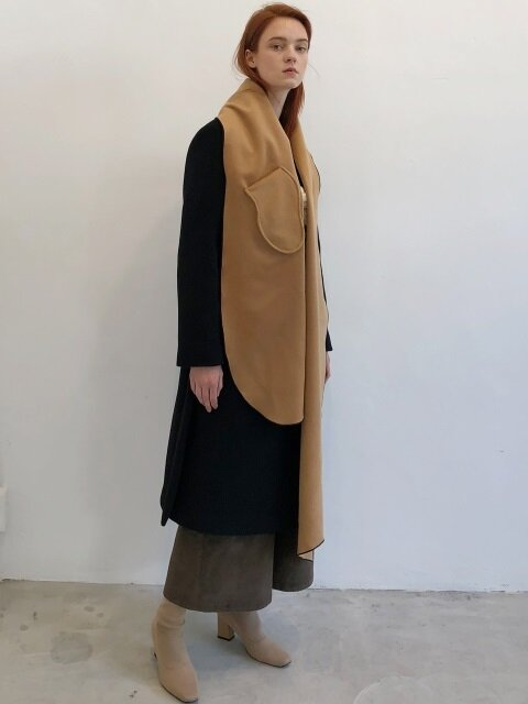18 WINTER wool+cashmere pocket muffler (beige)