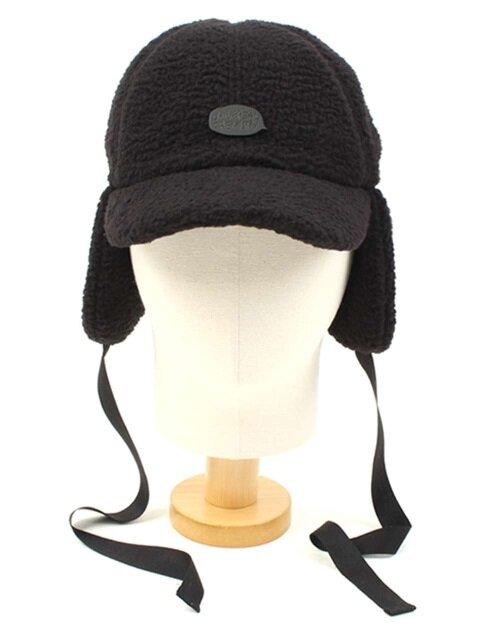 Black Fleece Ear Flap Cap BKMT 후리스귀달이모자