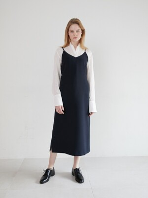 19' SPRING_Navy Simple Slip Dress