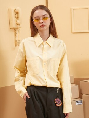 Long Placket Shirt (Yellow)