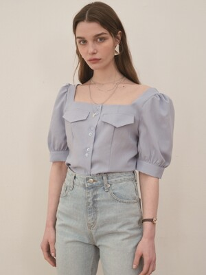 squade blouse skyblue