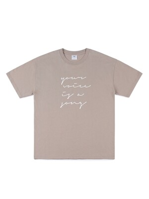 LOVE LETTER T-SHIRT (BEIGE)