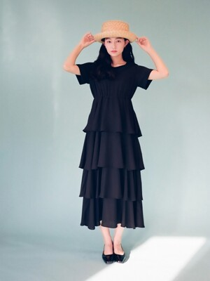 Tiered Maxi Dress OPS Black