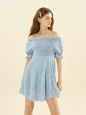 Smocking Dress_ Blue