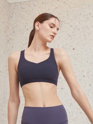 [SPORTS BRA] LS-208 MIDNIGHT NAVY