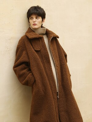 Teddy balloon coat_Brown