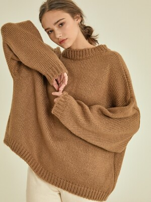 like reversible knit cardigan[brown]