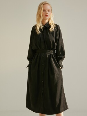MAXI SHIRT ONE-PIECE BLACK