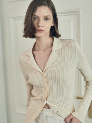 Open collar knit_3color (SK0SP025/SK0AP320)