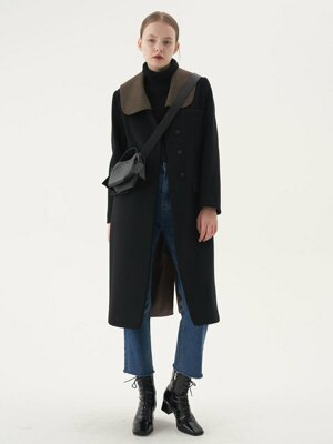 20' Winter_Black Wide Collar Wool Coat