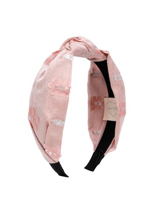 Flower Jacquard Hairband (Pink)