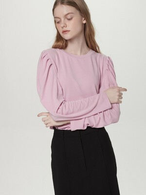 Long puff sleeve tee - Pink