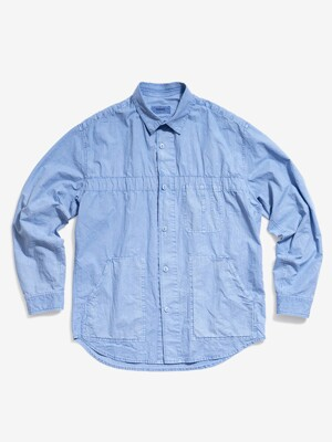 Garment Dyed Vintage Shirt (Sky Blue)