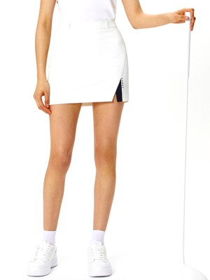 W Slit Point Skirt_OFF WHITE (HMD1)