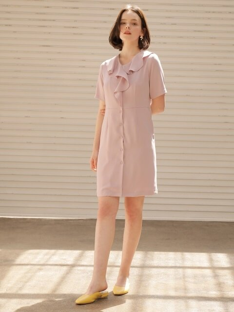 flare collar onepiece_light purple
