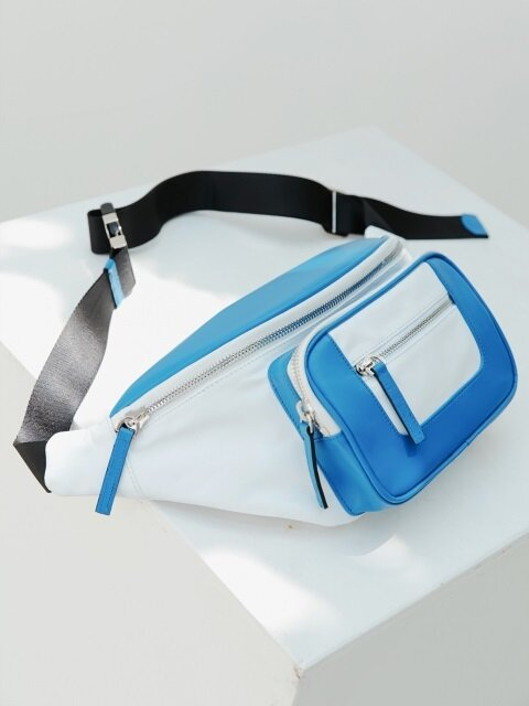 LEATHER FANNY PACK (WHITE)
