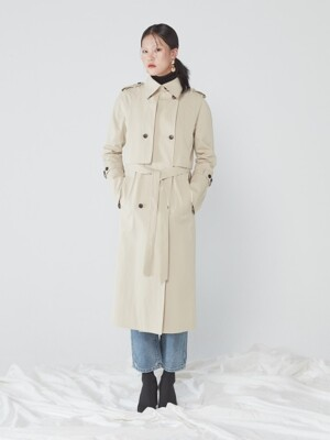 RAGLAN TRENCH COAT _ BEIGE