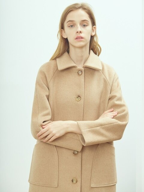 Wool mac coat (Apricot camel)