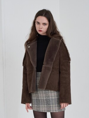 Monaco Fur Jacket (Brown)