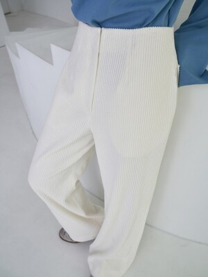 corduroy wide pants_snow white