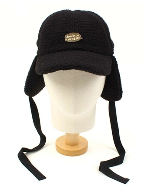 Black Fleece Ear Flap Cap GDMT 후리스귀달이모자