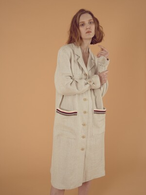 LINEN OVERFIT COAT_CREAM BEIGE