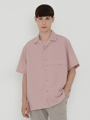 COTTON LINEN SHIRT_PINK