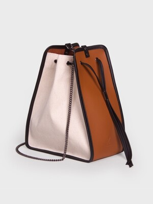 캔버스백 11° Canvas bag IVORY - BROWN 버킷백
