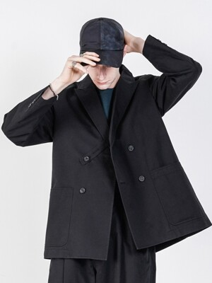 19FW LOOSE FIT DOUBLE JACKET BLACK