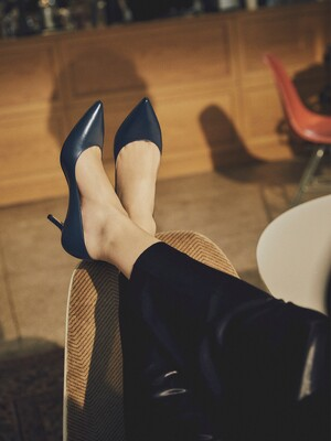 CLASSIC LEATHER PUMPS_NAVY
