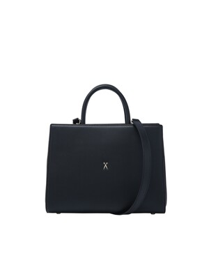 Lucky Pleats Tote M Rich Black