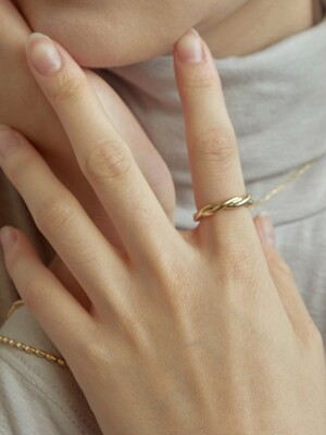 line wave ring-gold