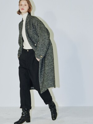 Clo herringbone tweed coat