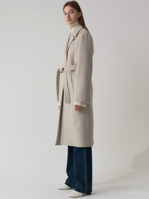 cashmere single coat (light gray)