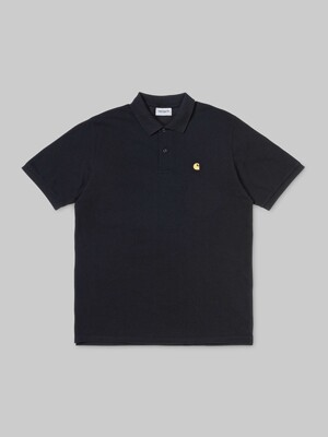 S/S CHASE PIQUE POLO_BLACK/GOLD