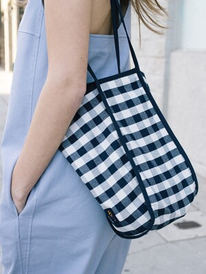 [20SS]ITAEWON Bag (Navy Gingham/Brown Gingham)