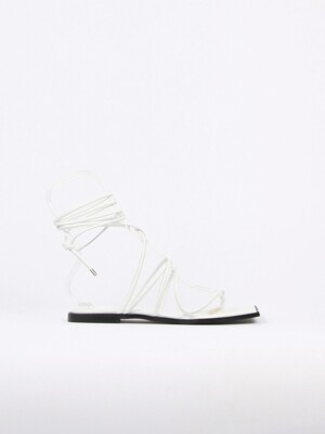 Yvonne Sandals Leather White
